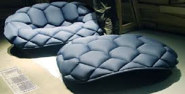 Quilt Chair and Ottoman