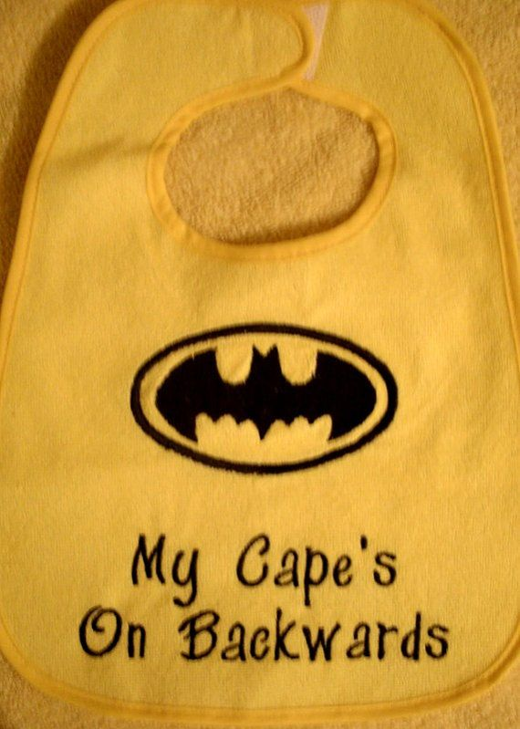 Batman Infant Bib by Blessmybobbins on Etsy, $8.00
