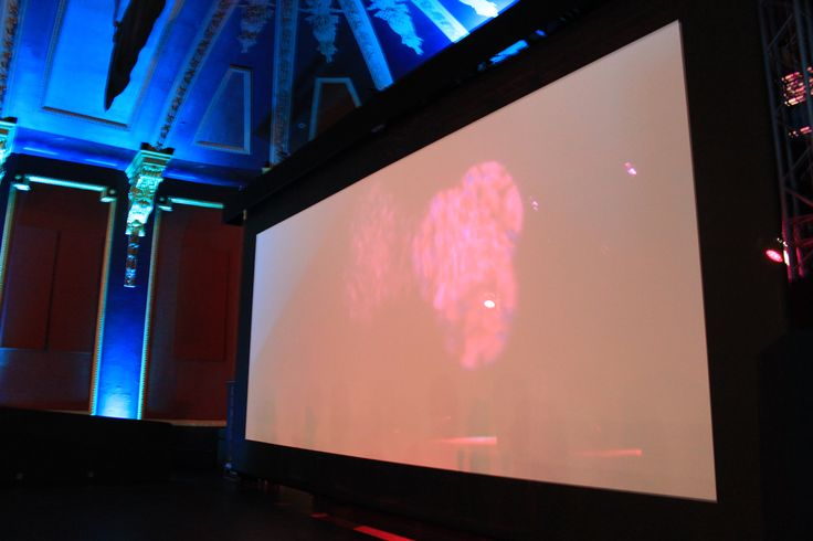 The huge screen in beautiful surroundings.