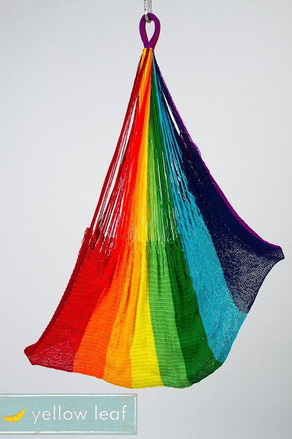 rainbow hammock!  woohoo!  so perfect for summer...