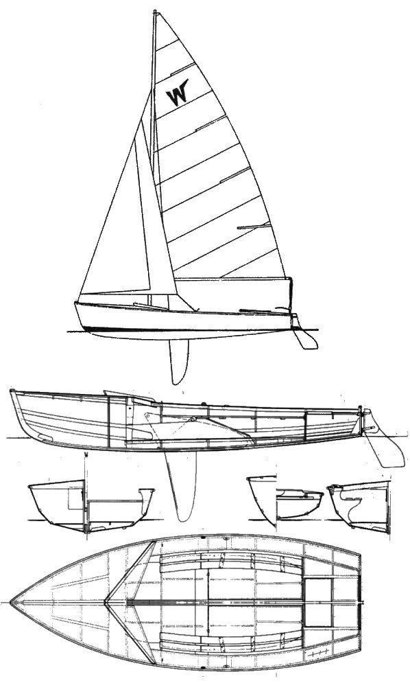Wayfarer drawing on sailboatdata com | fotos | Sailboat