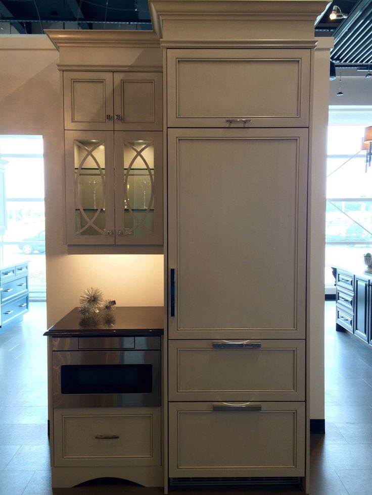 Stunning Built In Fridge Display with Microwave Drawer and Gorgeous Cabinet Features. Just one of the beautiful displays @Station12