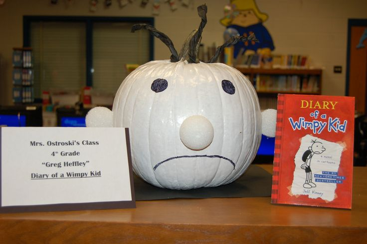 17 best images about pumpkin book characters on pinterest for Diary of a wimpy kid crafts