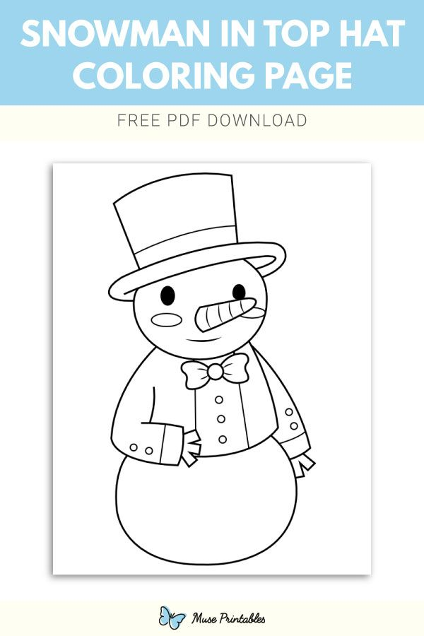Pin By Muse Printables On Coloring Pages Coloring Pages Snowman
