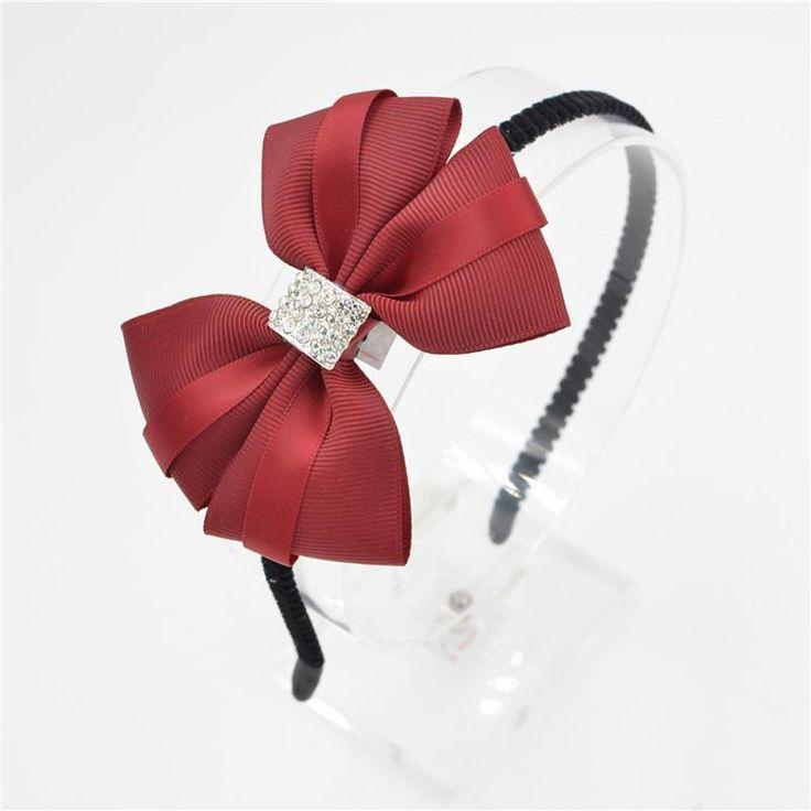 Women Girls lady Fashion Bow diamond Headband Hairband bowknot silk Elegant Hair Bands Holder Hoop headwear hair accessories  #styles #beautiful #stylish #model #glam #sweet #beauty #dress #style #fashionista