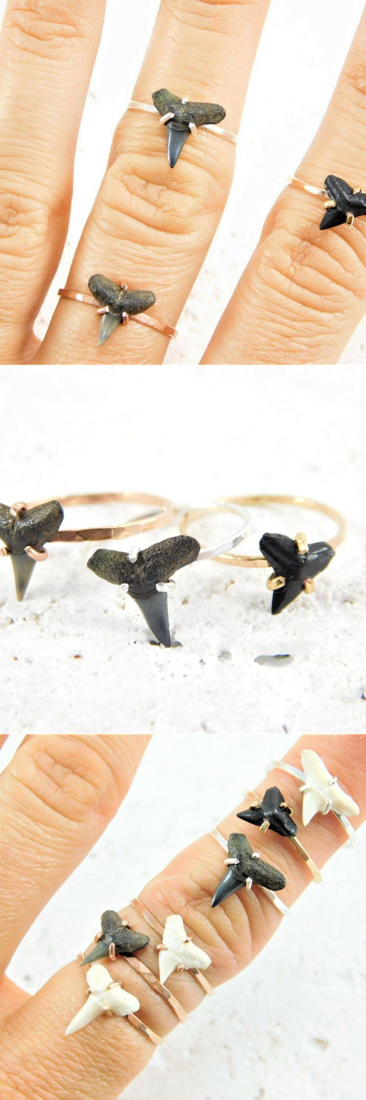 Shark Tooth Ring, Shark Tooth, Shark Tooth Jewelry, Fossil Ring, Fossil Jewelry, Gold Shark Tooth Ring, Silver Shark Tooth Ring, Beach Ring, Summer Ring, Ocean Ring, Shark Teeth, Sharks Tooth,
