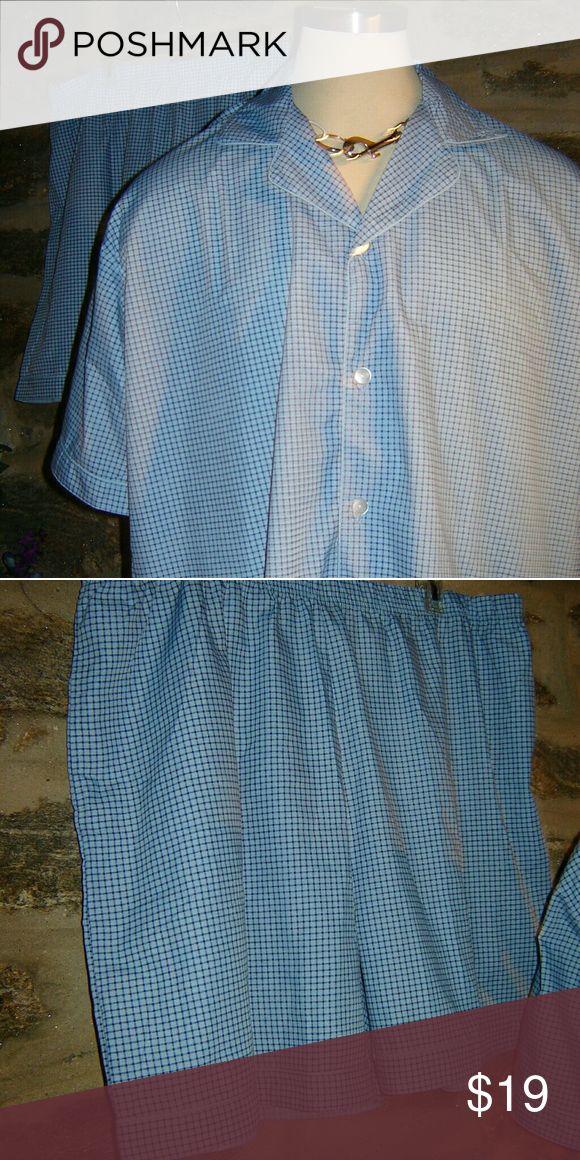 Haban Big & Tall 2x  Pajama Shorts Set Haban big and tall pajama short set marked size 2X best fit 3x pockets on shirt and shorts 52 inch from armpit to armpit waste 44 Haban Underwear & Socks Boxers