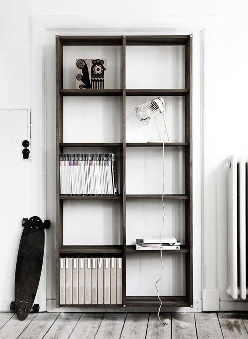goffgough: Books Covers, Bookshelves, Houses, Inspiration, Wood, Open Spaces, København Møbelsnedkeri, Design Blog, White Wall
