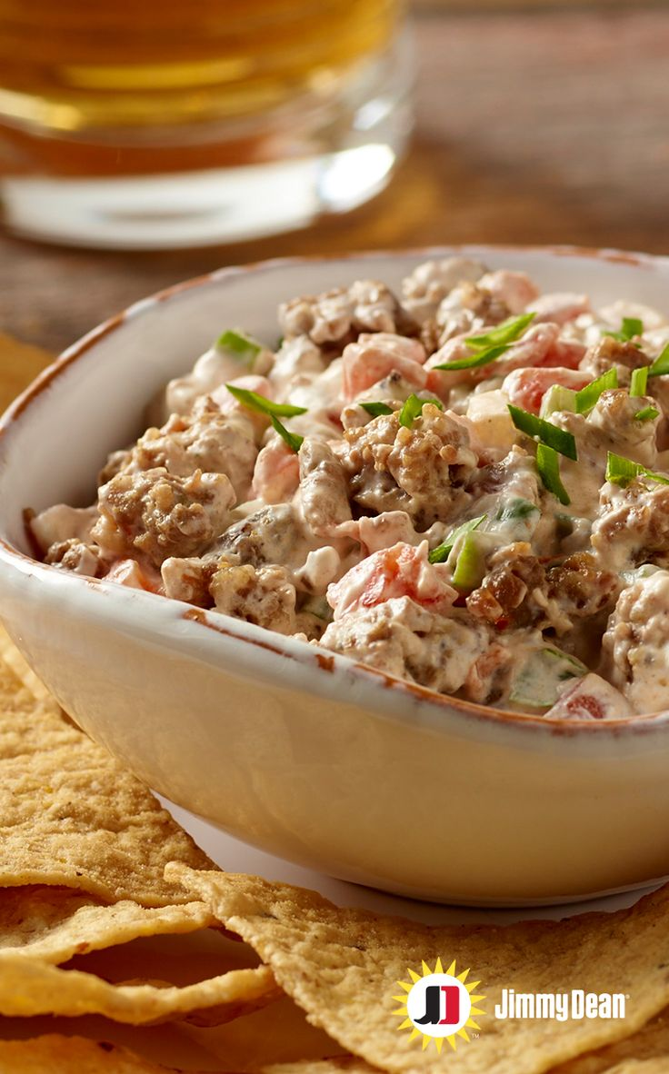 Jimmy Dean Roll Sausage -- Laura, from Real Mom Kitchen, shares her delicious Sunday Sausage Dip recipe, which has become a game day tradition in her home. Scoop up the goodness by bringing the tradition to your home with this hot and spicy appetizer.