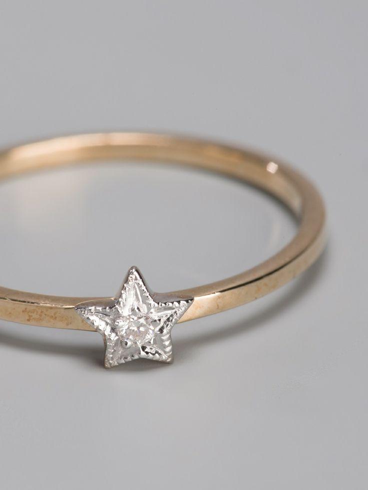 Zoe And Morgan Mini Star Ring