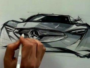 Car design and sketch demonstration