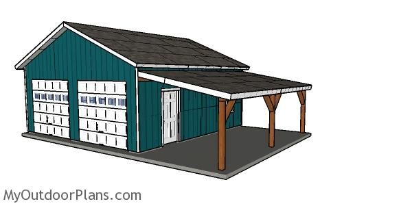 24x24 Double Garage Plans Myoutdoorplans Free Woodworking Plans And Projects Diy Shed Wooden Playhouse Pergola B In 2020 Carport Plans Carport Diy Garage Plans