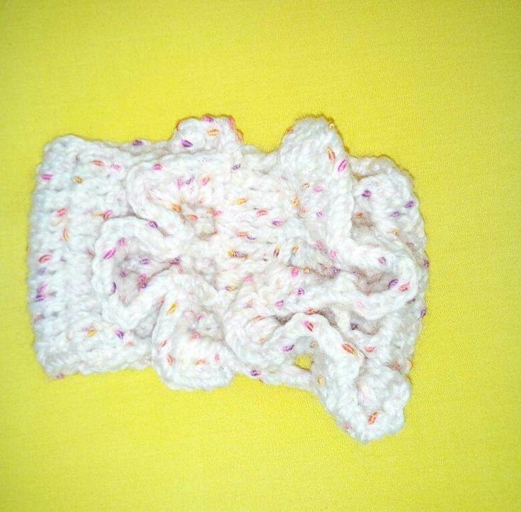 Crochet baby hair ribbon