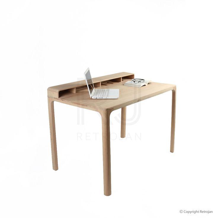 Buy Freya Scandinavian Style Solid Wood Study Desk Online