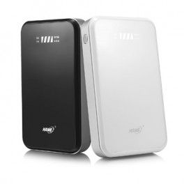 Hame F2 - 3G Mobile Power Router + Power Bank 10000mAh - Hame HM-F2 - Black Power Bank termurah hanya di Gudang Gadget Murah. The new Hame F2 WiFi Router and Powerbank / power router come with powerful 10000mAh battery, support 3G modem, can connect the broadband to RJ45 and provide wireless connection to up to 20 user - Black