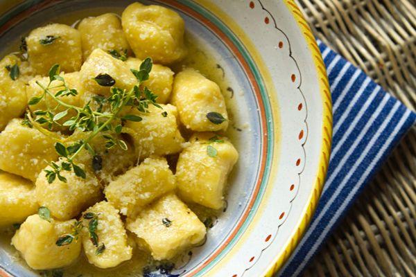 Italian Food Forever » Lemon Ricotta Gnocchi In Butter Thyme Sauce