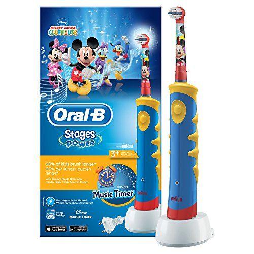 Oral-B Brosse à Dents Électrique pour Enfant avec Mickey de Disney: Pour que brossage rime avec divertissement La brossette rotative…