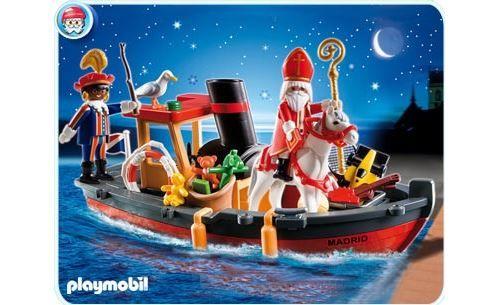 Playmobil noel 5206 bateau a vapeur de saint nicolas et pere fouettard - Achat & prix   fnac