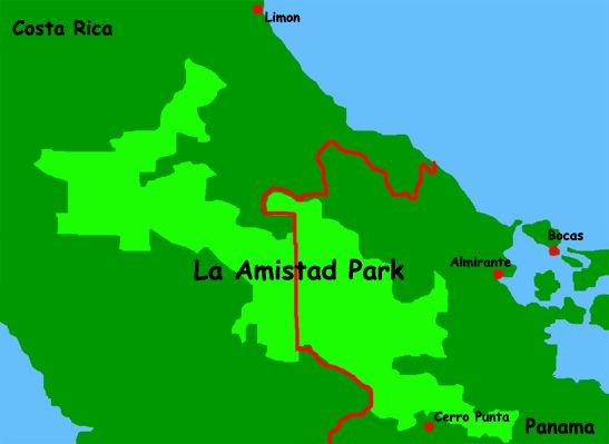 Panama Destinations: Amistad International Park - La Amistad is an impressive binational park that stretches from Costa Rica into Panama, a small portion of which extends into the Chiriqui province