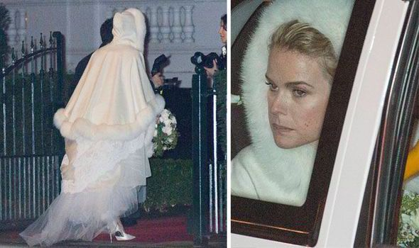 SHE'S A true British beauty and Alice Eve married in style last night, starting the new year as a married woman.