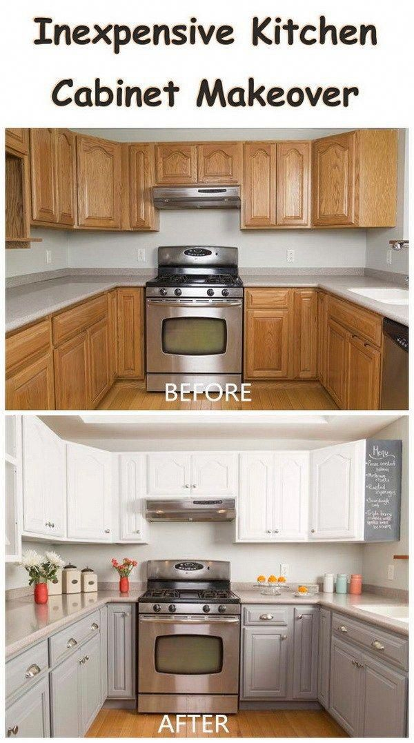 inexpensive kitchen cabinet makeover budgetkitchensremodel house rh pinterest com