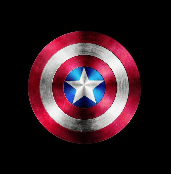 how to make the captain america shield in photoshop