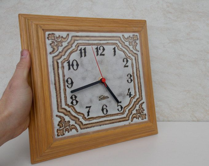 Vintage Germany Selvas Wall Clock / Made in germany / wall clock / kitchen decor / working clock / wood clock / vintage / Gift idea / Decor
