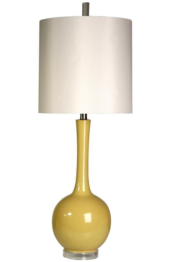 Mid Century Yellow Glass Lamp By Style Craft Lighting Pinterest Style Craft Peachtree