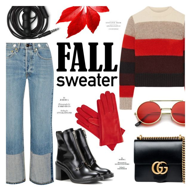 """Fall Sweater"" by alexandrazeres ❤ liked on Polyvore featuring rag & bone, Gucci, Urbanears, ZeroUV, Gizelle Renee, fashionset and fallsweaters"