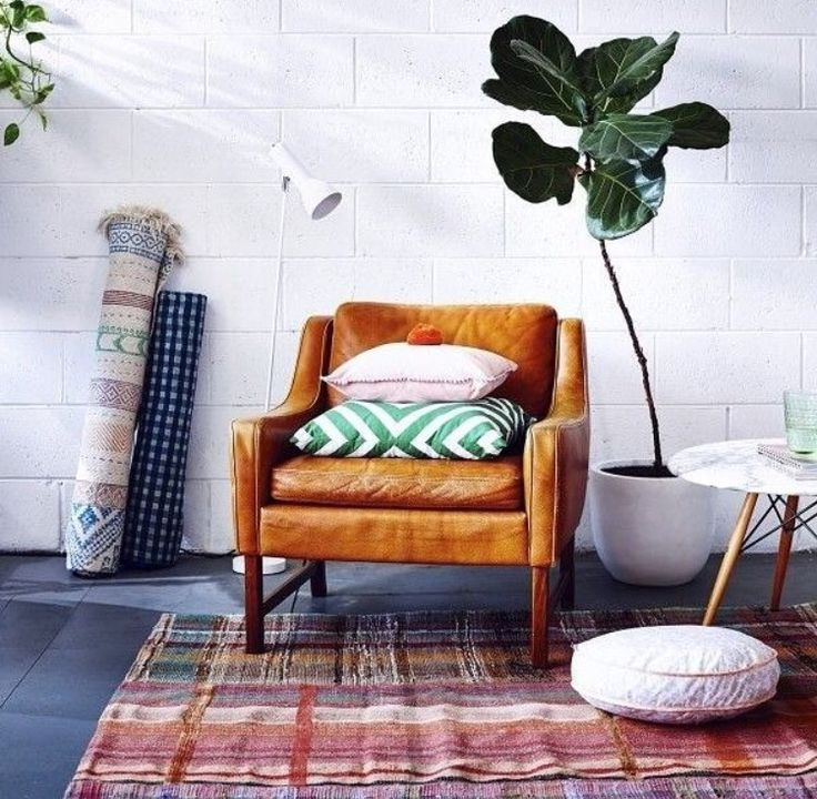 Super cute leather mahony chair