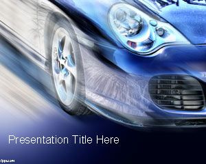 Free Car PowerPoint Template is an awesome presentation template with catchy cover slide design with a car and blue background
