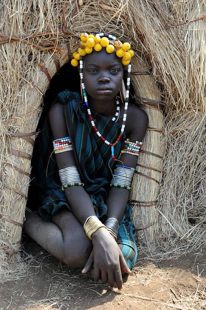 Africa | Mursi girl - Omo valley, Ethiopia