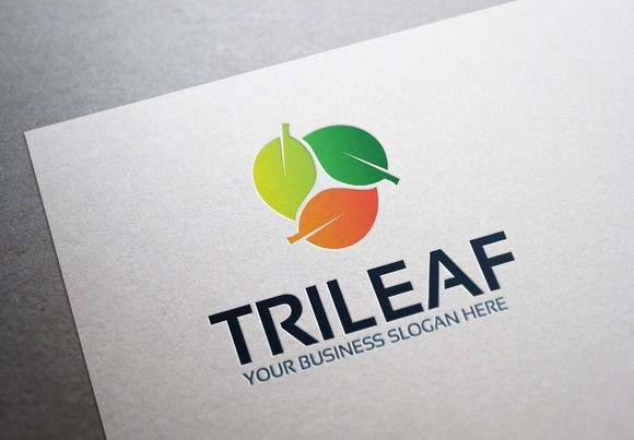 Tri Leaf Logo by Al Fitra on Creative Market