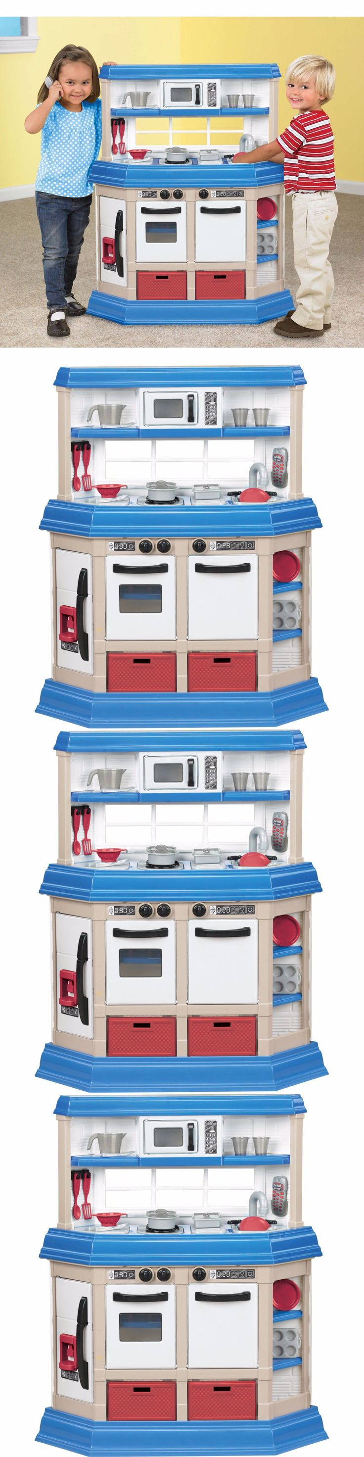 Kitchens 158746: Play Kitchen Set Playset Kids Pretend Toy Toys Cooking Station Game Plastic New -> BUY IT NOW ONLY: $61.7 on eBay!