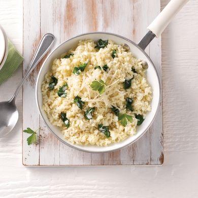 Riz crémeux au fromage et épinards - Recettes - Cuisine et nutrition - Pratico Pratique