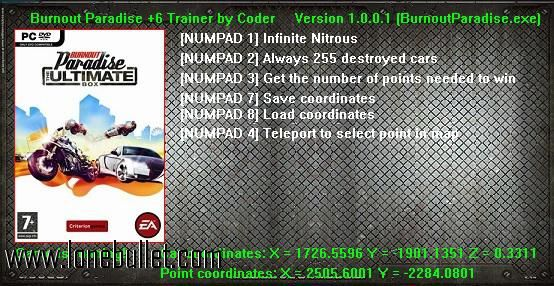 Hi fellow Burnout Paradise fan! You can download Burnout             Paradise Steam Trainer for free from LoneBullet - http://www.lonebullet.com/trainers/download-burnout-paradise-steam-trainer-free-1166.htm which has links for resume support so you can download on slow internet like me
