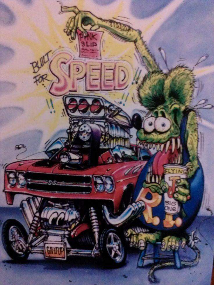 Chevelle Rat Fink Cards Cartoon Weird Art Art
