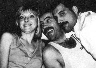Mary Austin, Jim Hutton and Freddie Mercury