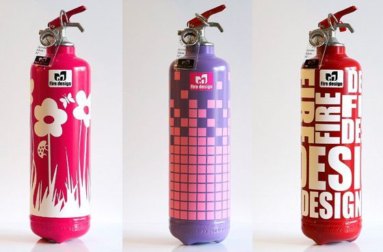 modern home decore fire extinguisher