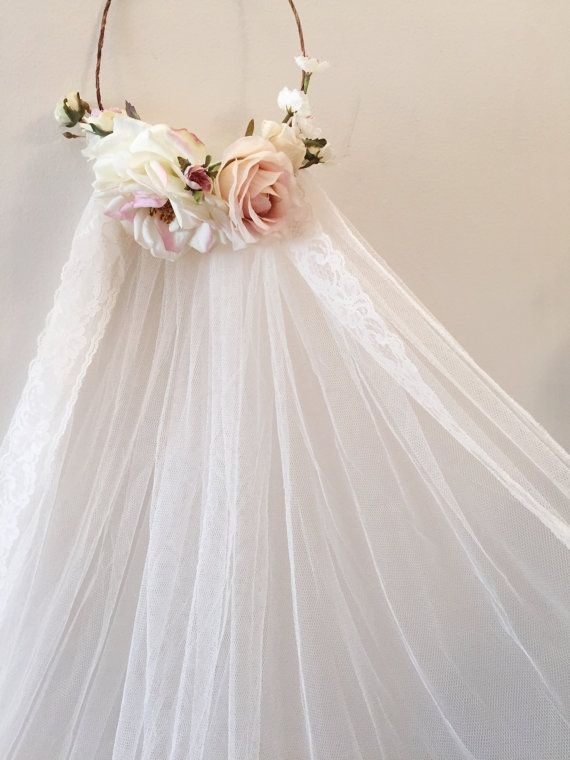 Bridal Flowers In Hair With Veil : Best ideas about flower crown veil on long