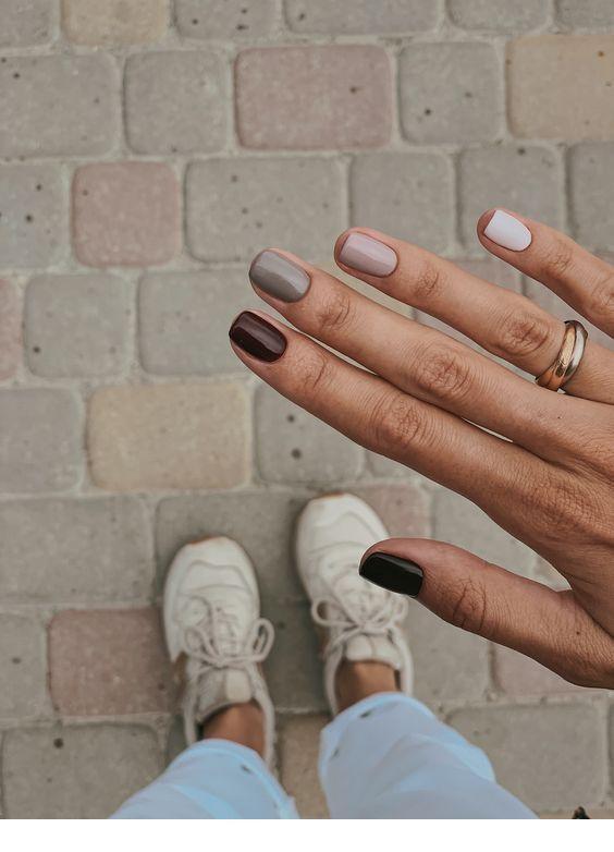 Verschiedene Töne, Nägel Inspirierende Damen – Fingernägel + Nails