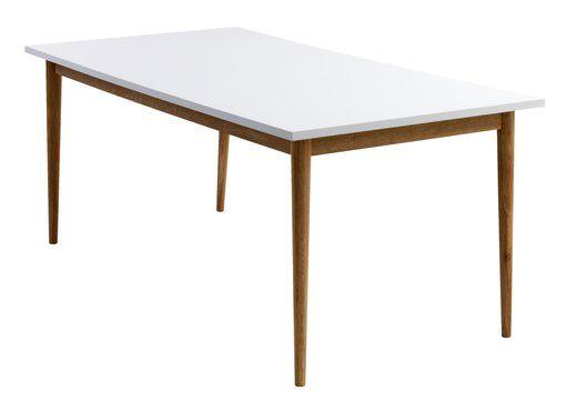 Eettafel RISSKOV 90x180 eiken/wit | JYSK