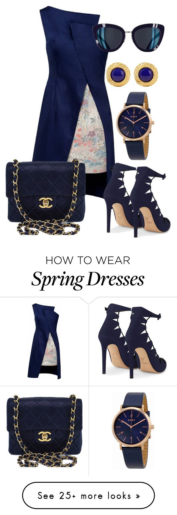 """""""Navy blue"""" by leopardlover111 on Polyvore featuring Lemiché, Chanel, DKNY and Ben-Amun"""