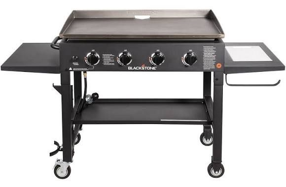 blackstone 36 inch outdoor flat top gas grill griddle station 4 rh pinterest com