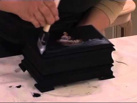 Dekupaj tekniği Ahşap Boyama teknikleri - YouTube