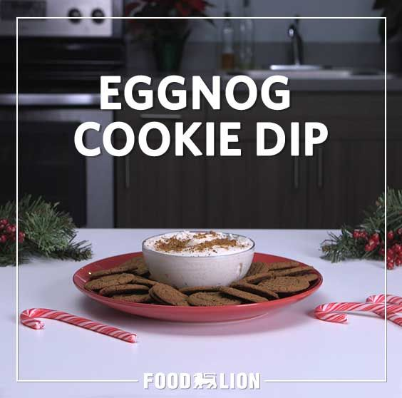 Can't get enough eggnog? Then this easy-to-make eggnog dip will be a surefire hit this holiday season.