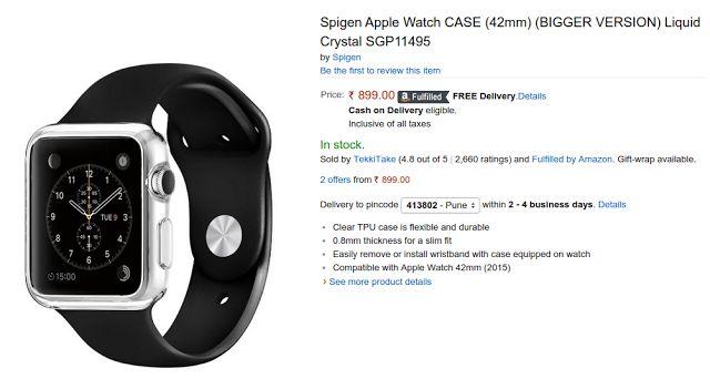 Buy Spigen Apple Watch Cases/Screen Guards in India | Ubuntuish
