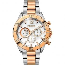 Breeze Trinity Lux Mop Chronograph Two Tone Stainless Steel Bracelet 710291.8