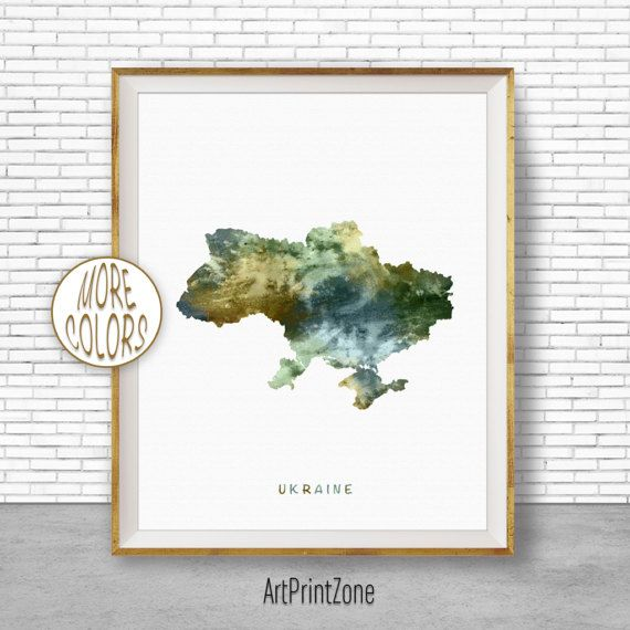 Ukraine Map Art, Ukraine Print, Watercolor Map, Map Painting, Map Artwork, Country Art, Office Decorations, Country Map Art Print Zone #WatercolorMap #ArtPrintZone #CountryMap #OfficeDecorations #CountryArt