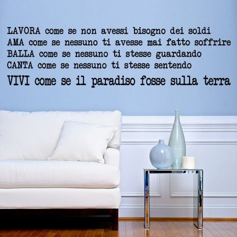 wall sticker FAMOUS QUOTES Paulo Coelho: Come se big